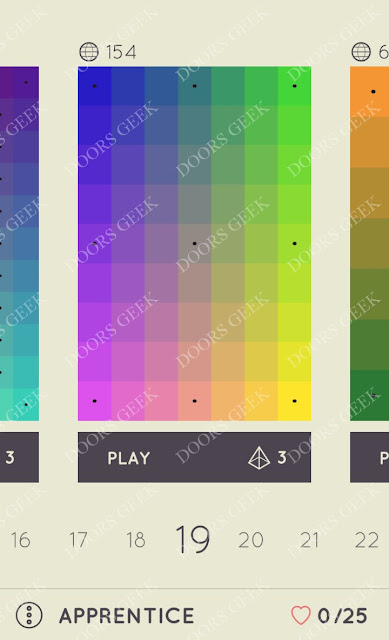 I Love Hue Apprentice Level 19 Solution, Cheats, Walkthrough