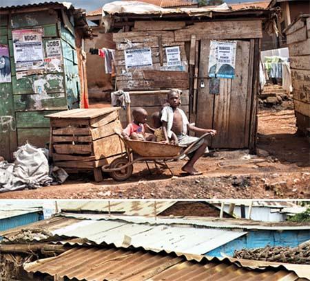 Life in the Slums of Kibera Kenya Africa