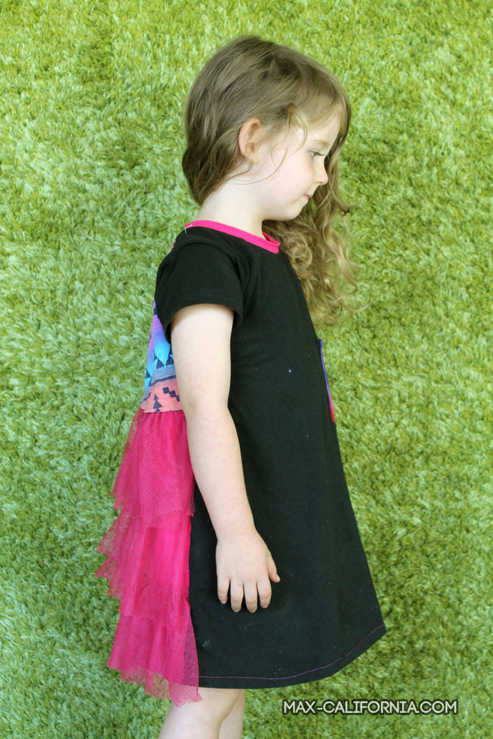 Tutorial: Party in the Back ruffle dress - a super easy way to make a simple dress look a little fancier (use t-shirts for a rad upcycle!) • www.max-california.com