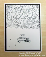 Sympathy Card made with Stampin'UP!'s Breathtaking Bouquet stamp set