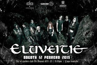 Concierto de ELUVEITIE en Bogotá