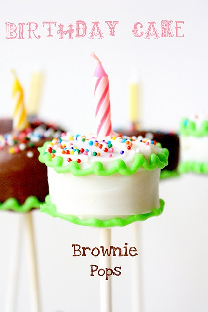 Birthday Cake Brownie Pops - Oh My Creative