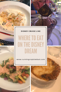 Restaurants on Disney Cruise Line