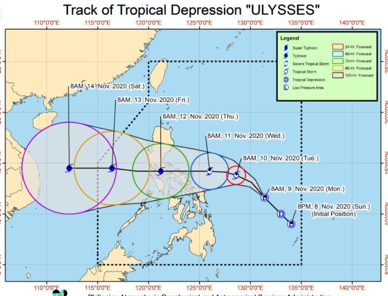 'Bagyong Ulysses' PAGASA weather update November 9, 2020