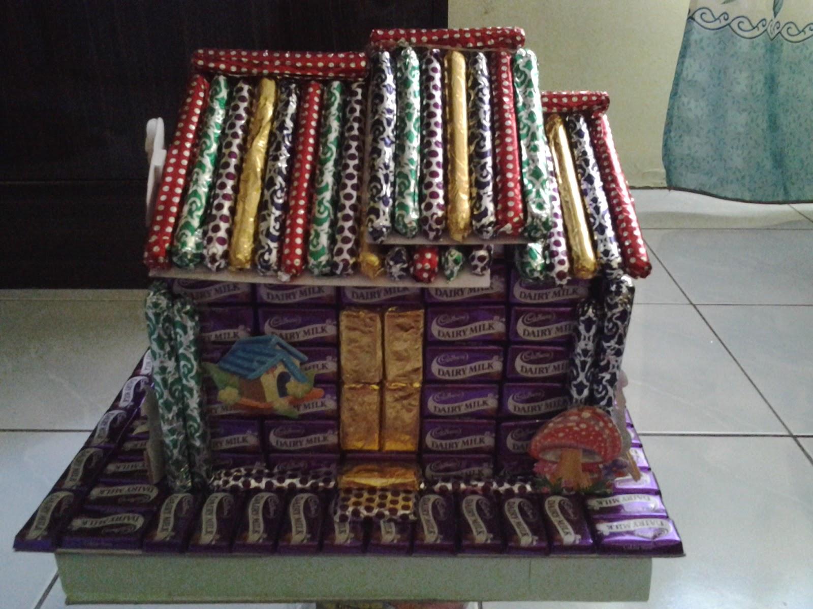 model rumah coklat