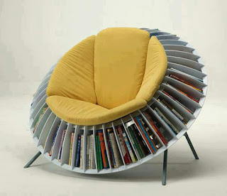 Comfortable Round Chair Bookcase Combination