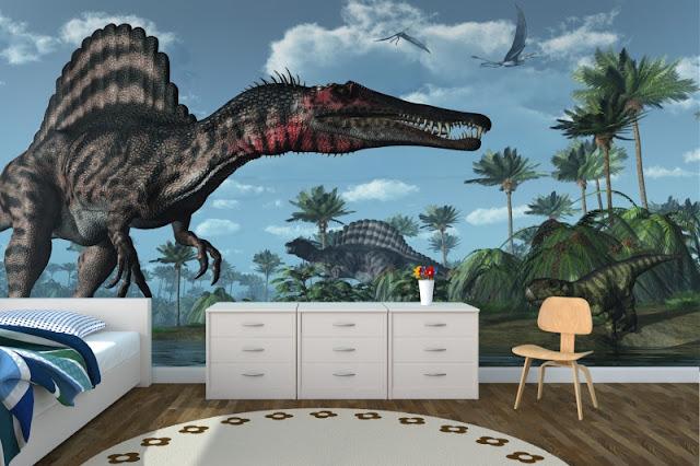 Dinosaur wall mural Jurassic 3d room photo wallpaper For Bedroom mural sticker Kids Room