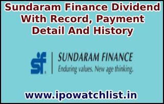 Sundaram Finance Dividend