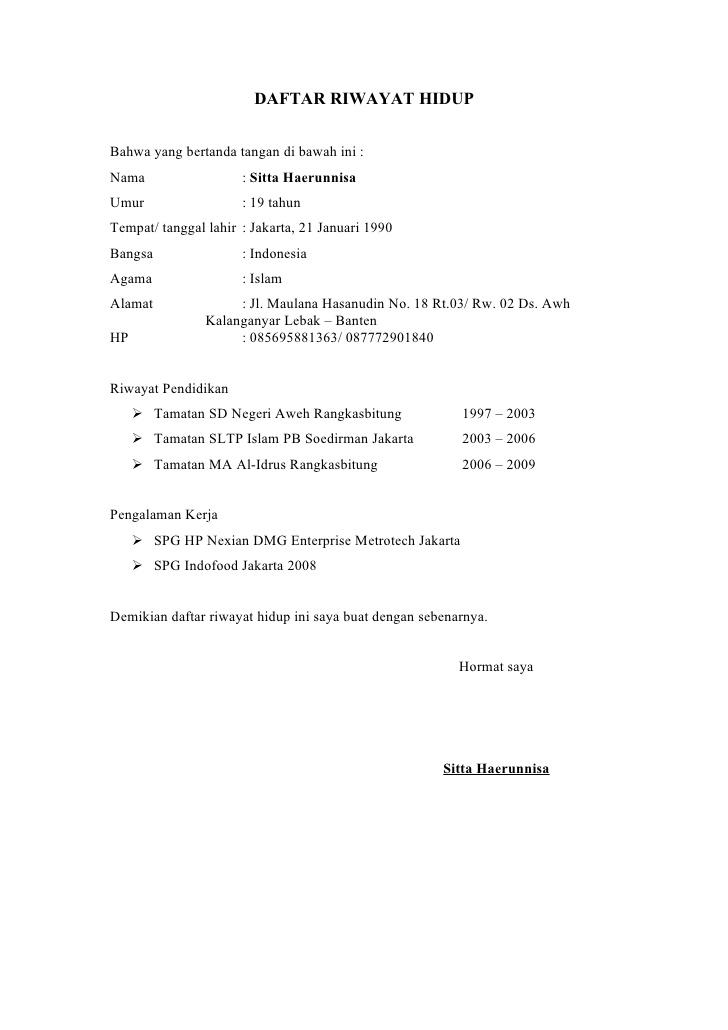 Contoh CV Untuk Lulusan SMK - ben jobs
