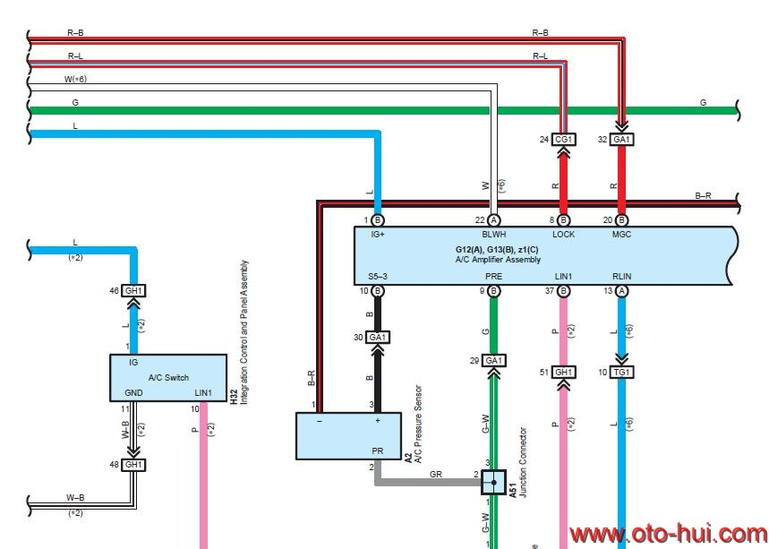 Free Auto Repair Manual   Lexus Gx460 2010 Wiring Diagram