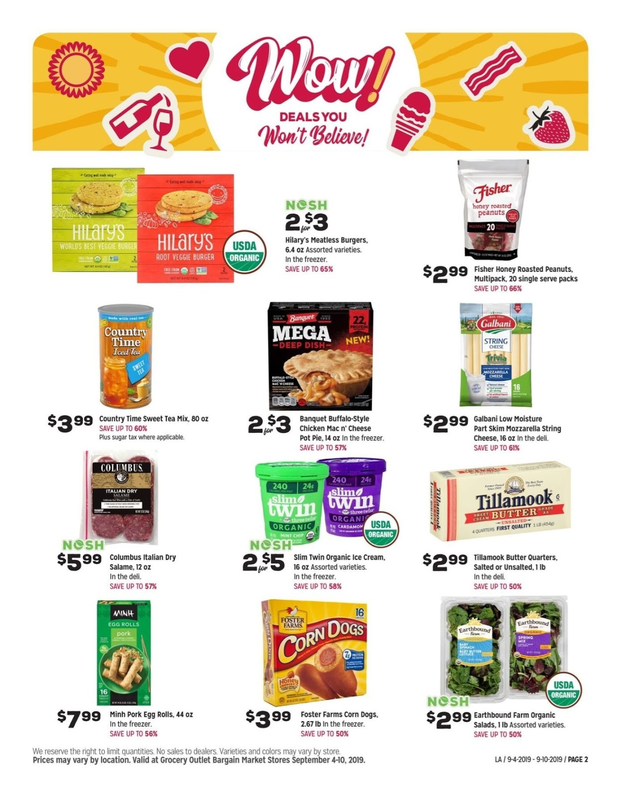 Grocery Outlet Weekly Specials September 4 - 10, 2019