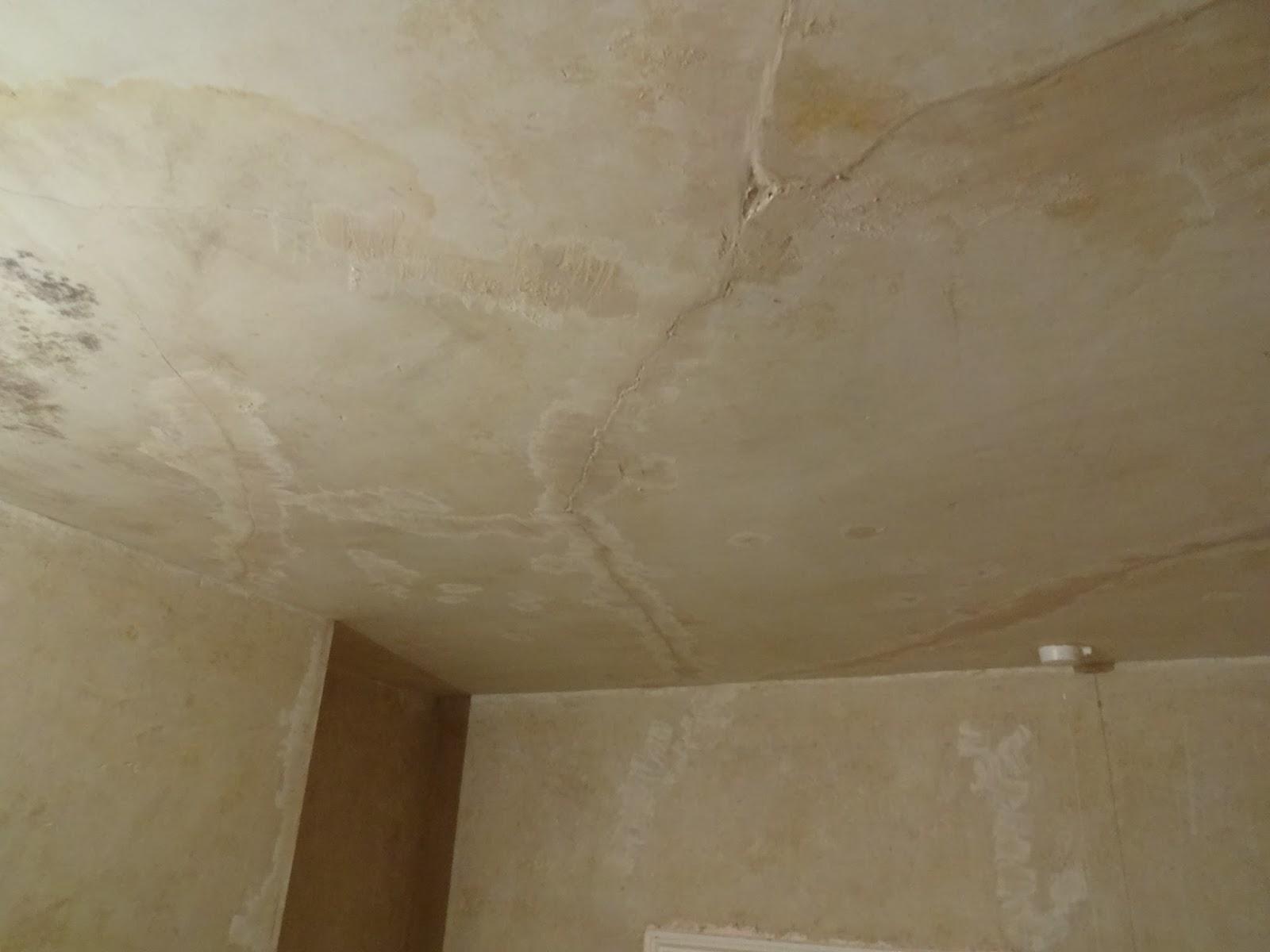 Repair cracked ceiling