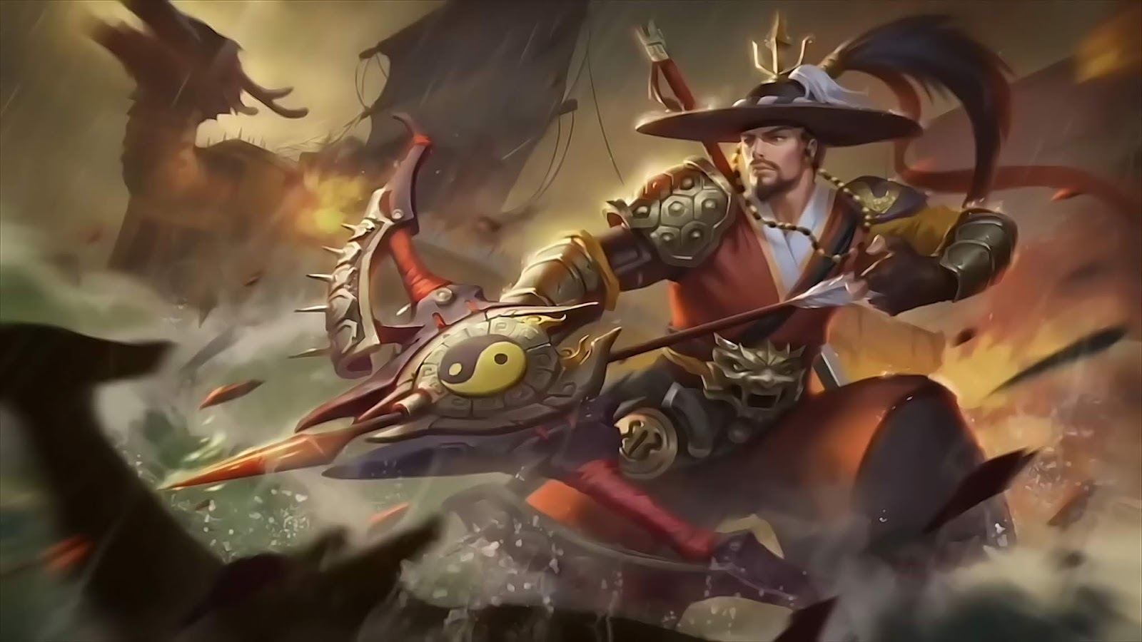 Wallpaper Yi Sun-Shin National Hero Skin Mobile Legends Full HD for PC