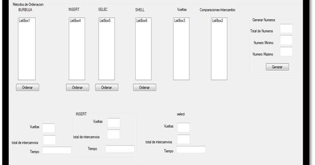 Estructura De Datos : Metodos de Ordenacion