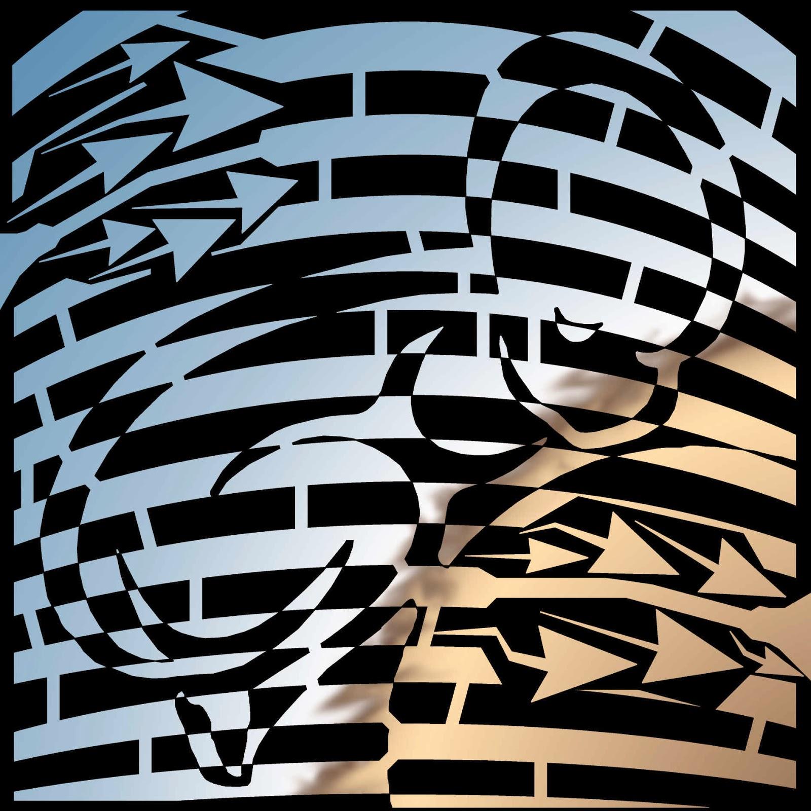Rushin Roulette Op Art Baby Maze