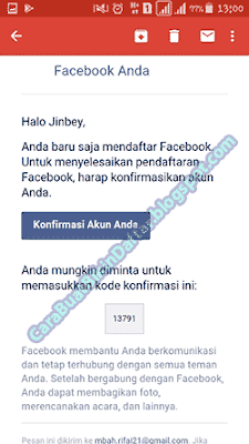 Buat Facebook Baru gmail