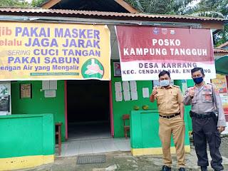 Kapolsek Cendana Bersama Kepala desa Karrang Kontrol Kampung Tangguh, Ini Harapanya !!!