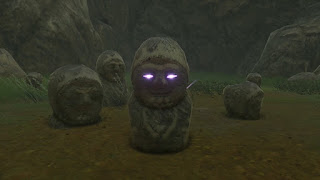 evil statue glowing eyes legend of zelda breath of the wild screenshot