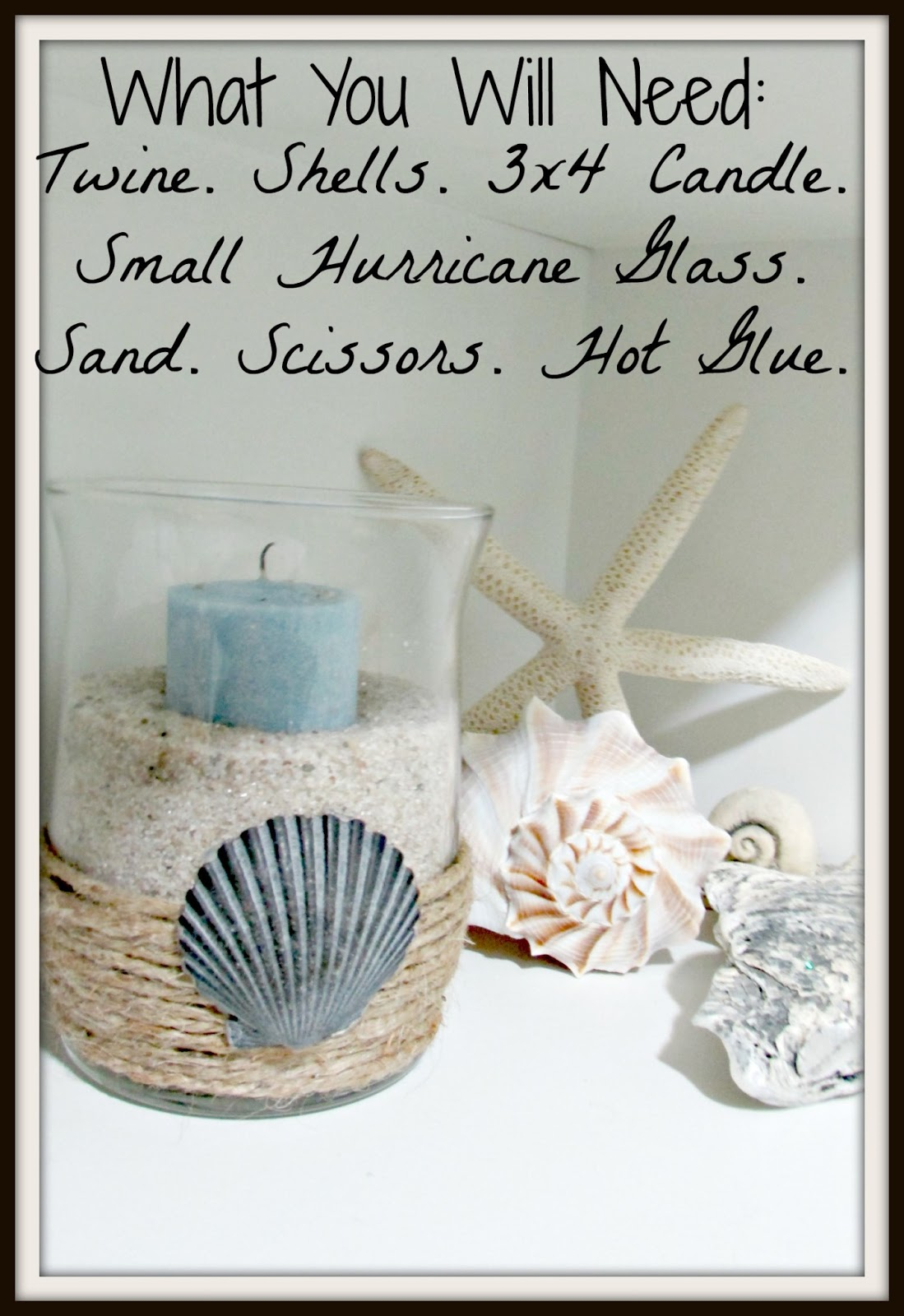 Beach Themed Kitchen Decor Corner Cupboard Ideas Dusk And Rubies Diy Hurricane Glass