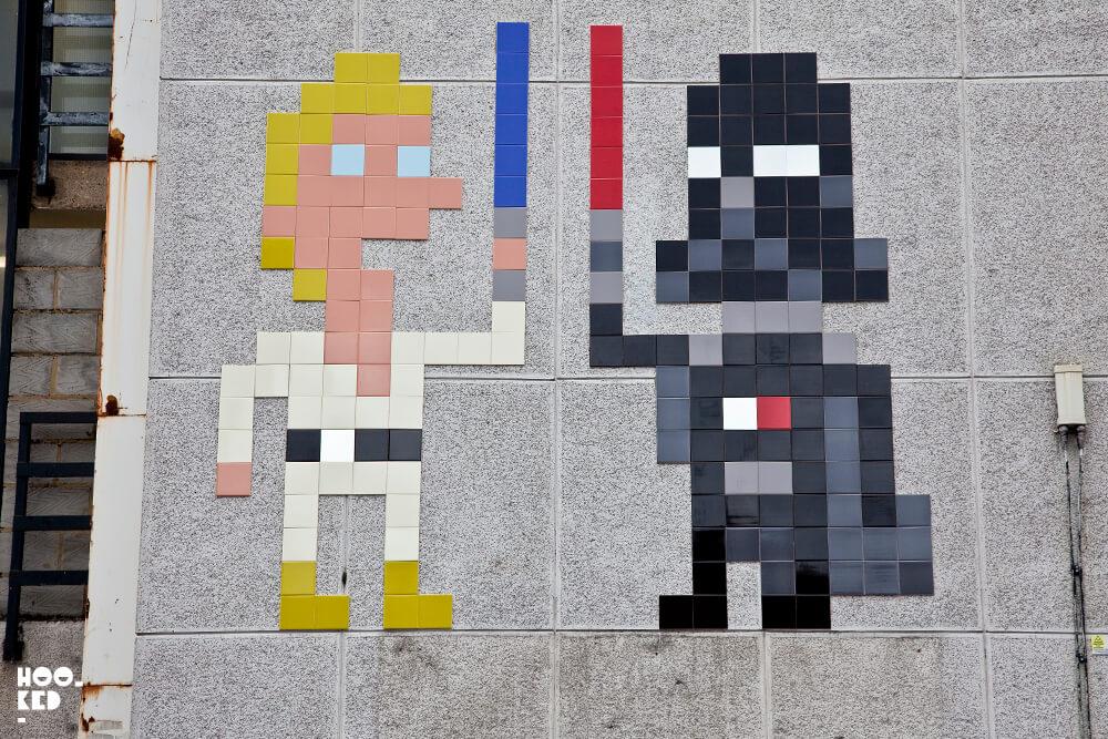 Star Wars inspired Shoreditch Street Art with French street artist Invader