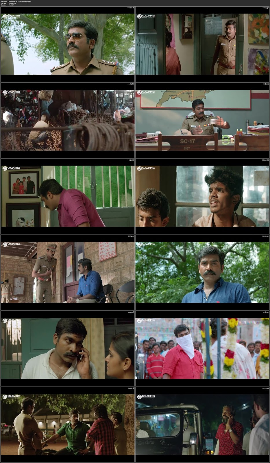 Sethupathi 2018 Hindi Dubbed 300MB X264 HDRip 480p