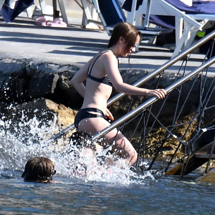 Lily Collins Hot Photo Gallery from Beach