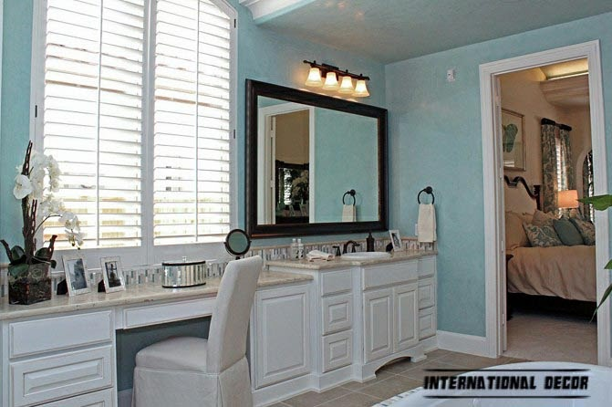 stylish bathroom in turquoise accent