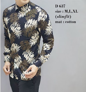 baju batik pria zalora