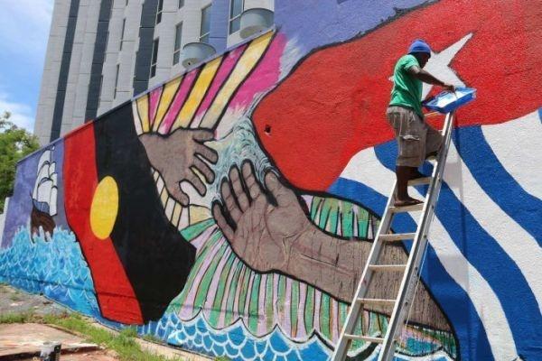 Mural Dukungan Aborigin pada Kemerdekaan Papua Dihapus