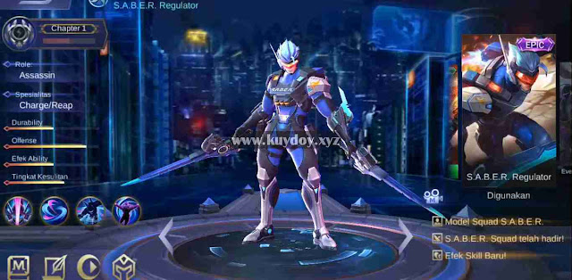 Script Skin Saber Epic Regulator Mobile Legends Patch Terbaru