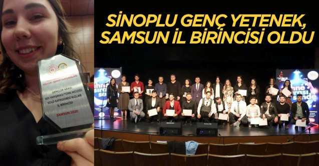 Sinop'lu genç ses birinci oldu