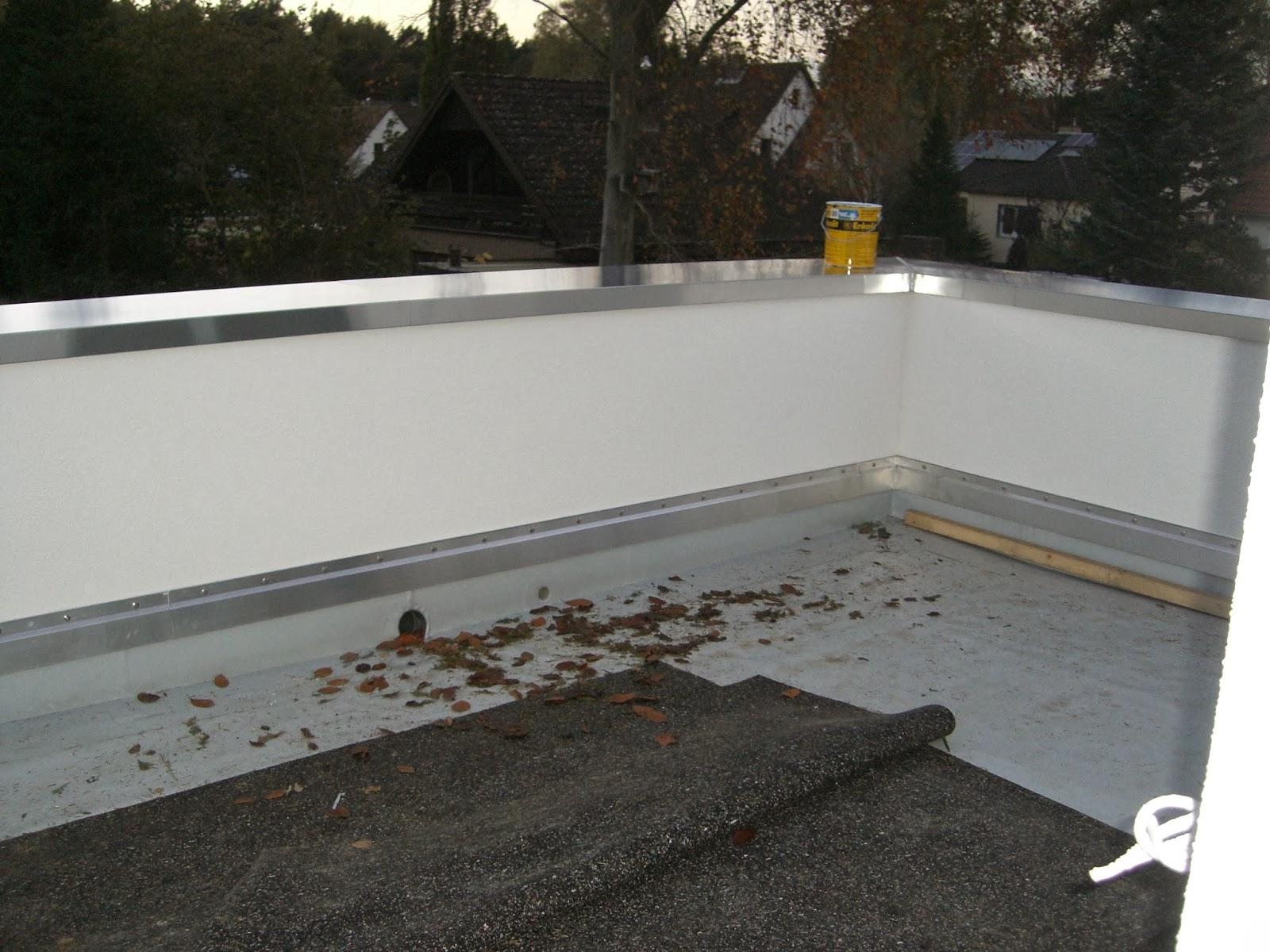 baubericht dachstrift abdeckung attika und balkon. Black Bedroom Furniture Sets. Home Design Ideas