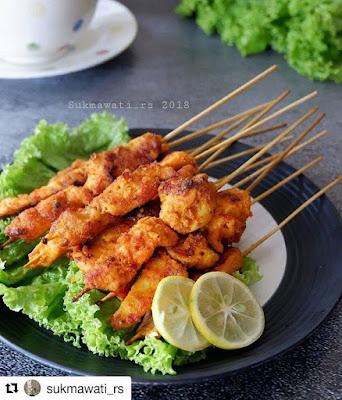 Sate Ayam Bumbu Bali - Resep Olahan Ayam