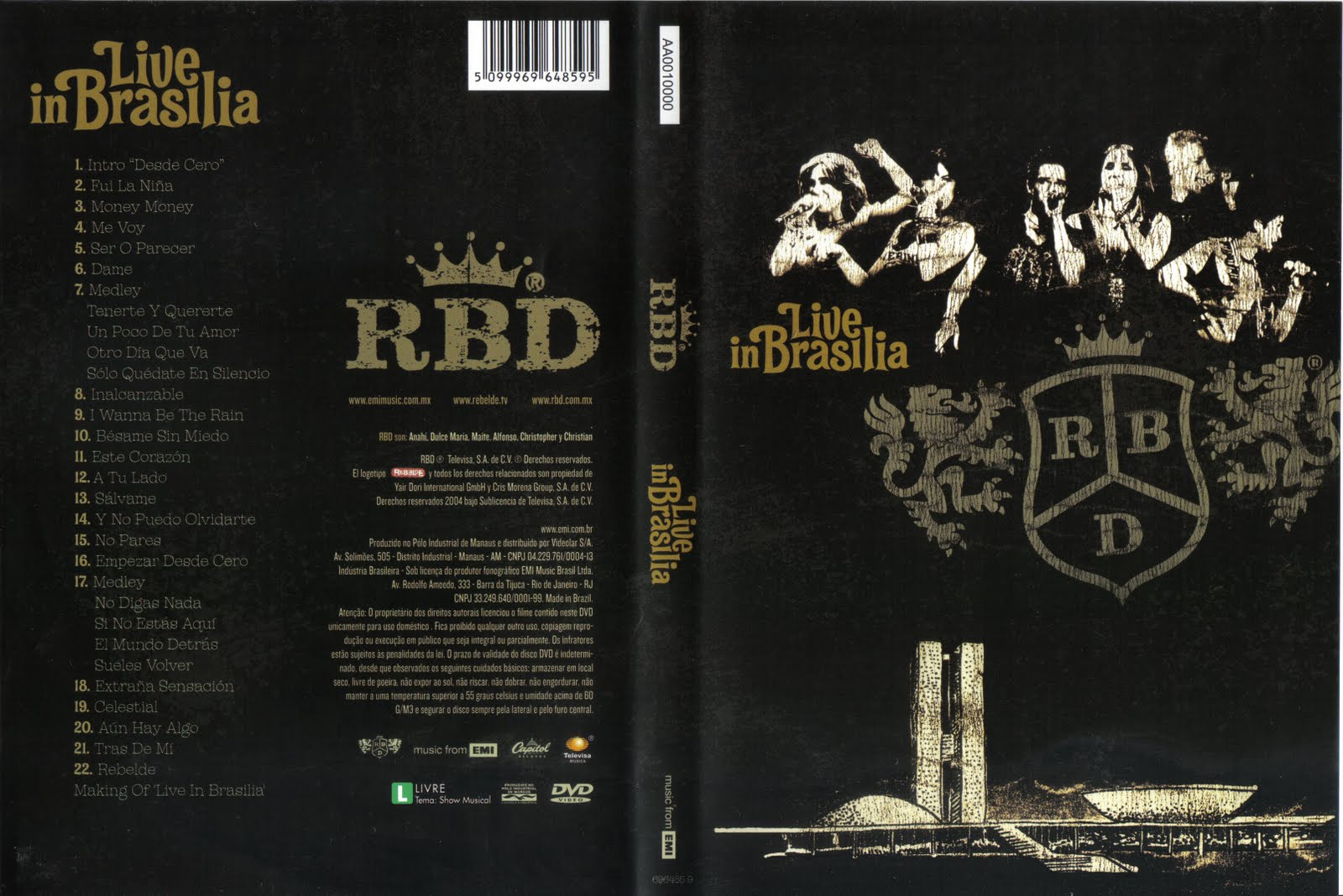 BRASILIA AO GRATIS CD RBD LIVE IN BAIXAR VIVO