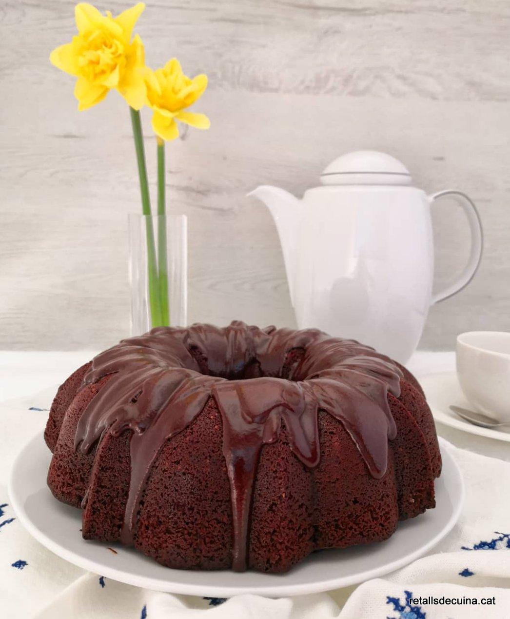 Bundtcake de xocolata i oli d'oliva