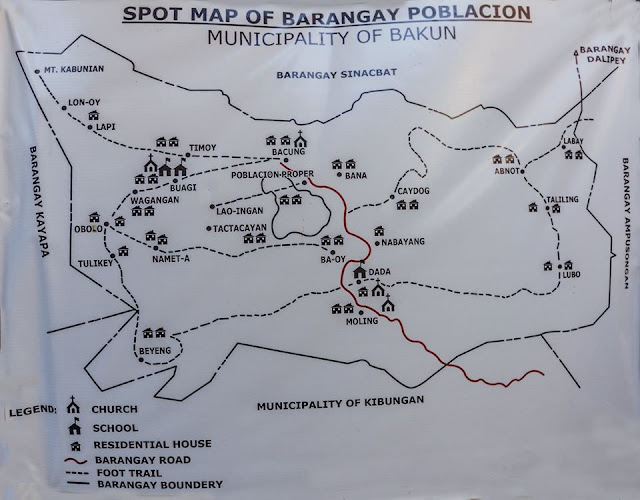 Spot Map of Barangay Poblacion Municipality of Bakun Benguet Cordillera Administrative Region PHILIPPINES