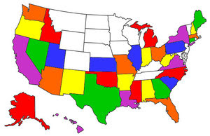US States we have visited...