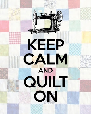 free Keep Calm and Quilt On Poster