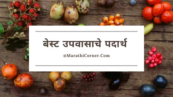 बेस्ट उपवासाचे पदार्थ [लिस्ट]   Upvasache Padarth in Marathi