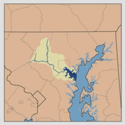 map of Patapsco River in Maryland