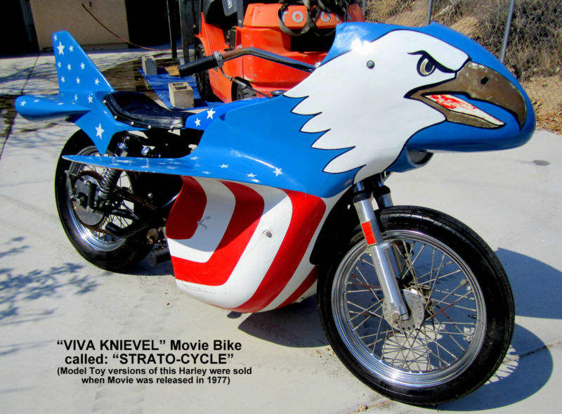 Evel Knievel S 1976 Harley Davidson Xl1000 Is For Sale: Strato-Cycle