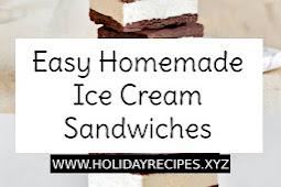 Easy Homemade Ice Cream Sandwiches Recipe