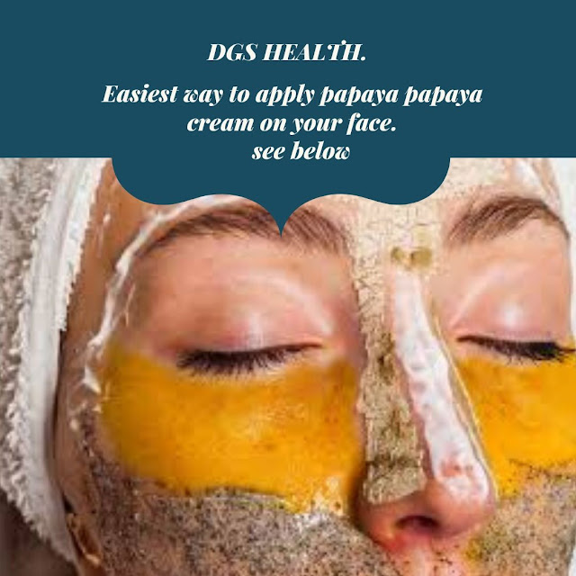 easiest way to use papaya paste on your face.