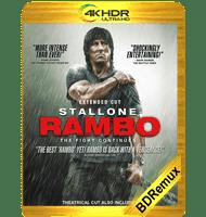 RAMBO 4: REGRESO AL INFIERNO (2008) THEATRICAL BDREMUX 2160P HDR MKV ESPAÑOL LATINO