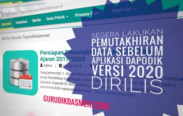 Pemutakhiran Data Aplikasi Dapodik Versi 2020