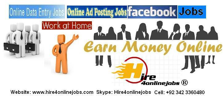 Online Data Entry, Ads Posting and Facebook Jobs Network Marketing Jobs