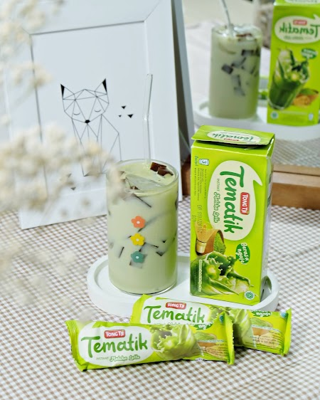 Review  Tematik Matcha Latte dari Tong Tji; Minum Enak tanpa Takut Gemuk