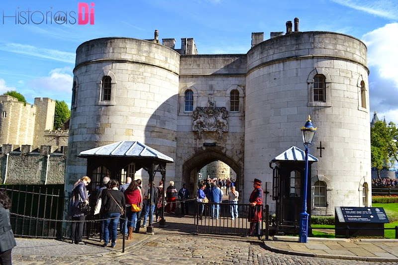 A entrada da London Tower