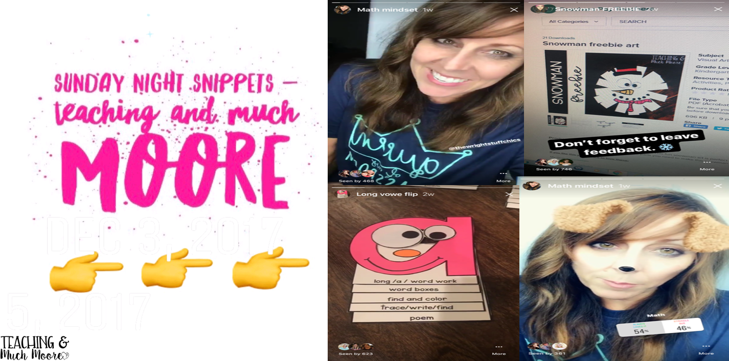 Sunday Night Snippets on Instagram | Teaching and Much Moore