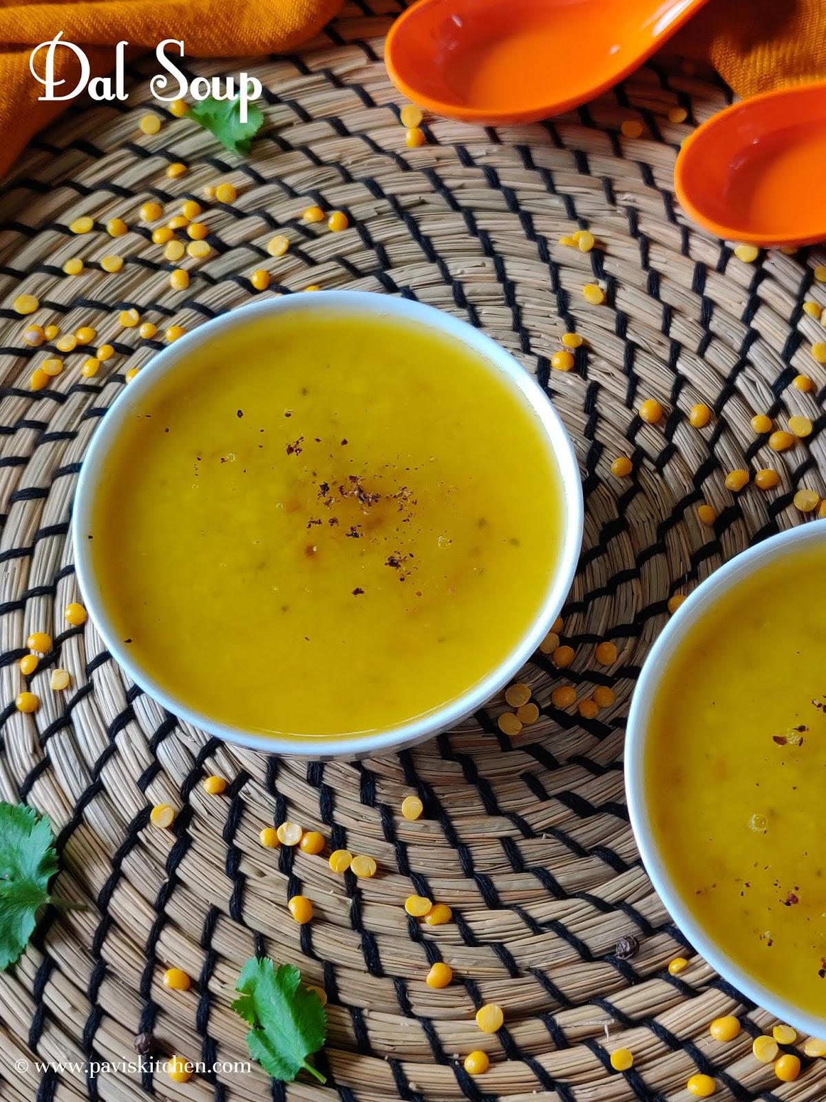 Indian Dal Soup Recipe   Vegan Yellow Lentil Soup